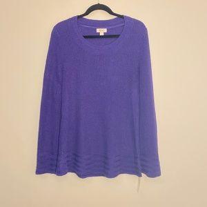 Style & Co | Midnight Iris Knit Sweater Size S NWT